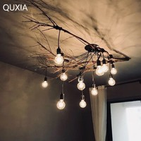 Chandelier Spider Nordic Led E27 Industrial Lamp Loft Modern Vintage Design Home Living Room Cafe Bar Clothing Hanging Light