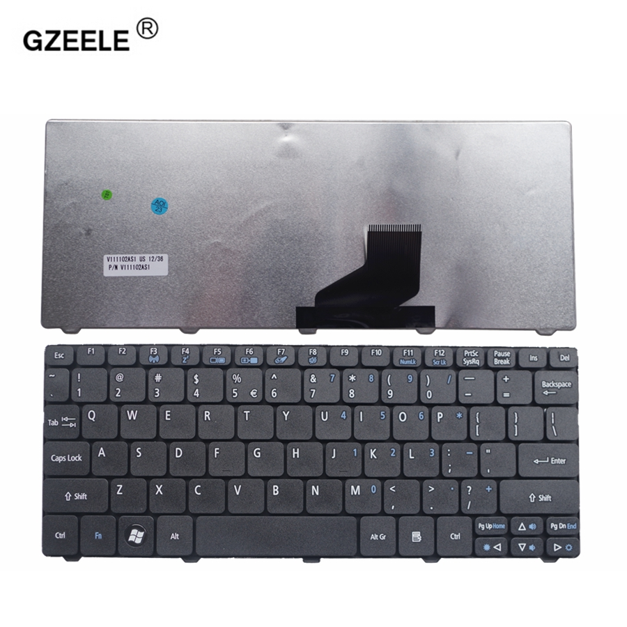 GZEELE English Laptop Replace Keyboard Fit For Acer Aspire One 521 522 533 532 D255 D255E D257 D260 D270 VCY57 US NEW KEYBOARD