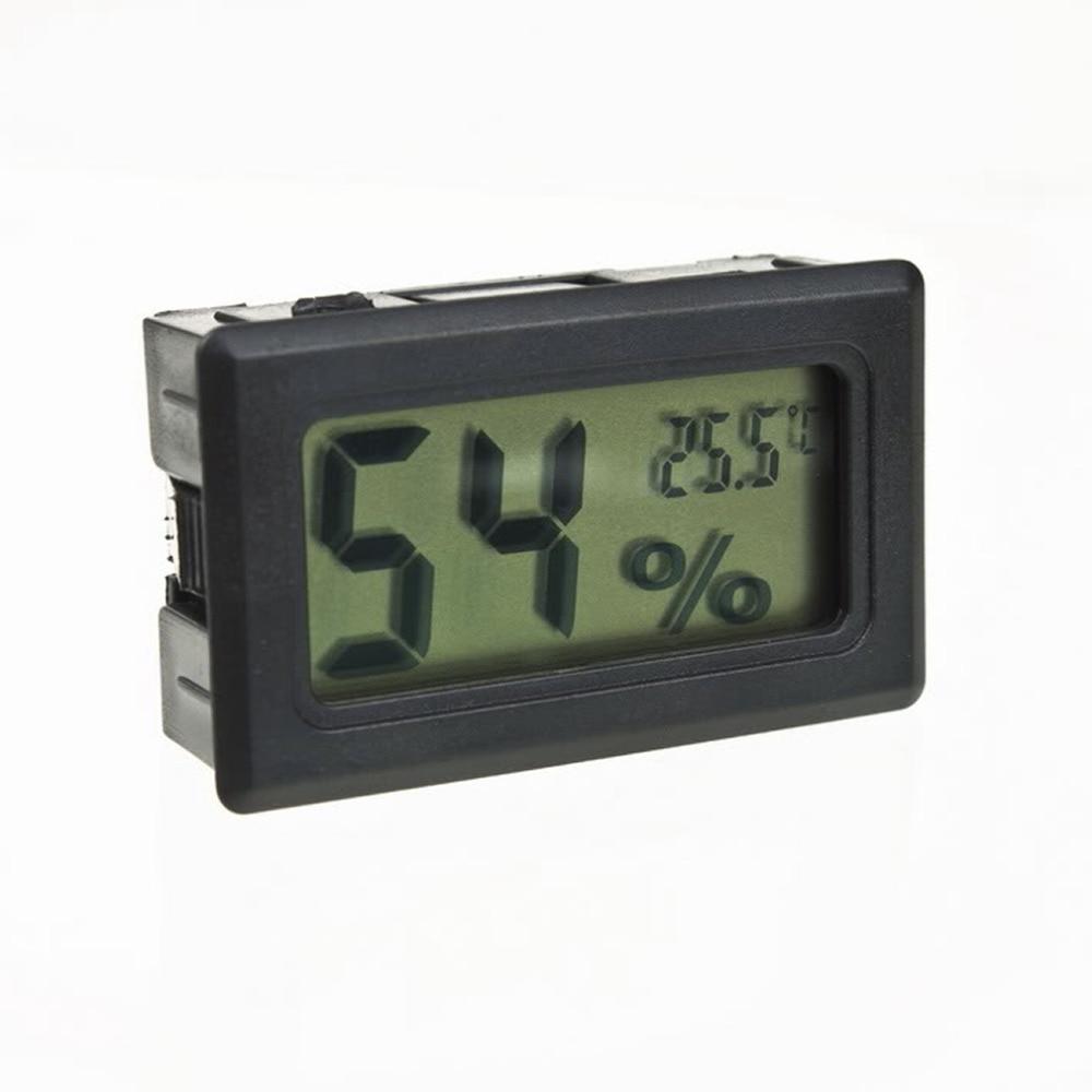 1pcs Mini Temperature Humidity Meter LCD Digital Thermometer Hygrometer Fridge Freezer Black New Drop ship cigar box shape 1 0 lcd electric thermometer humidity meter black 1 x ag13