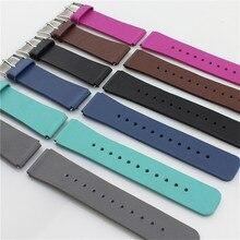 Faixas de Relógio de pulseira de couro genuíno cinto Cinta Faixa de relógio pulseiras de Substituição Para Samsung Engrenagem Fit 2 desgaste Relógio