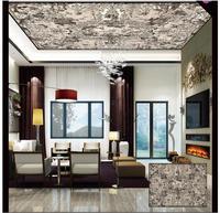 Personnalisé 3d papier peint 3d papier peint au plafond murales Coûteux cour église fresques au plafond mur peinture 3d salon mur décor
