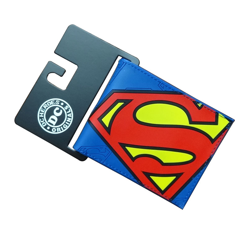 2017 New Arrival Superman Wallets Anime DC Comics Avengers Super Hero Purse Card Holder Bags Gift Men PVC Short Wallet carteira dc movie hero bat man anime men wallets dollar price short feminino coin purse money photo balsos card holder for boy girl gift