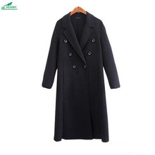 Korea winter clothing new high – end double – sided cashmere Outerwear women autumn code long – sleeved wool coat OKXGNZ QQ1092