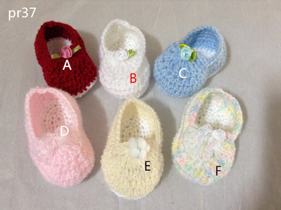 Crocheted Baby Booties Shoes