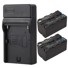 2pcs High Capacity 5200mah  Replacement Digital Camera Batteria For Sony NP-F750 NP-F770 Battery with Charger