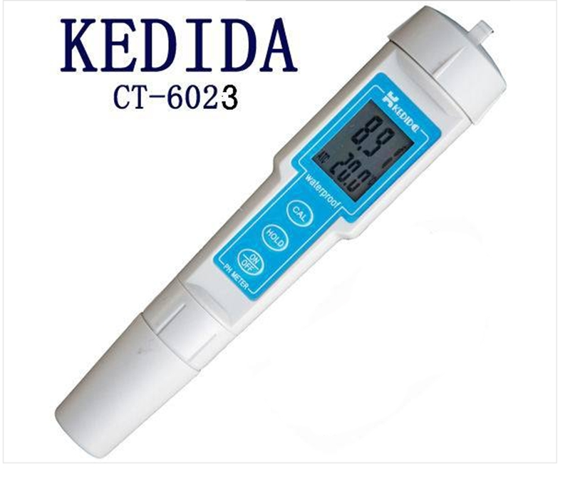 Portable Digital PH Meter Waterproof Pen Type PH Tester For Swimming Pool Test Filter Water CT-6023 Range 0.00-14.00pH Hot Sale lcd digital waterproof pen type salt meter tester 0 5 0