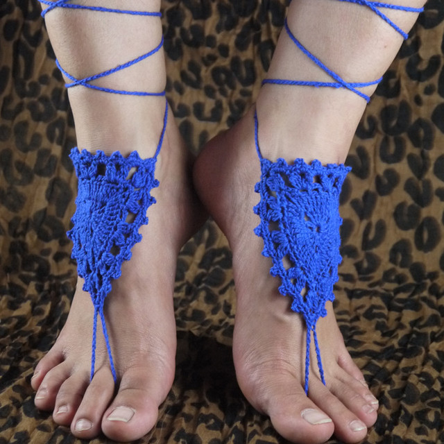 746566a89208 White lace Barefoot Sandals