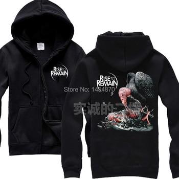 3D Rise To Remain UK high quality Cotton Zipper Sweatshirt Rock Hoodies Winter jacket brand punk hardrock Black metal Vulture