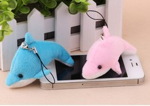 50PCS/LOT Hot 8CM Kawaii Small  dolphin Plush Toys Stuffed Animals Fluffy Soft Kids