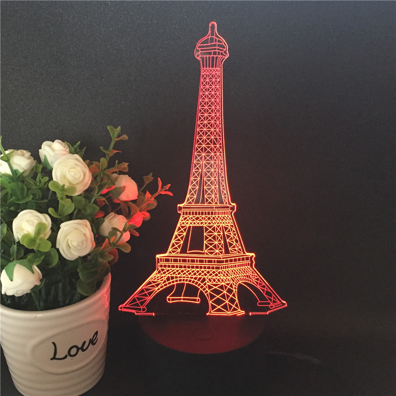 3D Visual Illusion Lamp Transparent Acrylic Night Light LED Lamp 7 Color Changing Touch Table Lamp Kids Lava Lamp