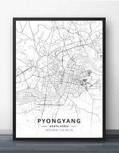 Плакат с картой Северной Кореи пхенъян