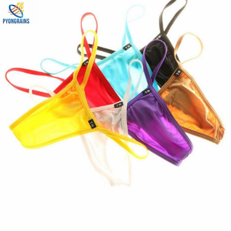 Fashion Nylon Thongs And G Strings Gay Men Underwear G-strings Thong Bikini Low Waist Sexy Men Jockstrap Gay Wholesale Retail
