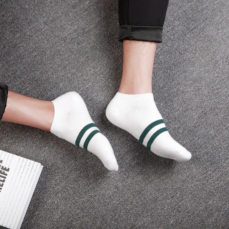 Socks men short A49 summer autumn socks solid quality cotton socks men