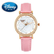2017 Disney Kids Watch Children Watch Fashion Cute Wristwatches Girls Boys Mickey Mouse Gift Leather clock