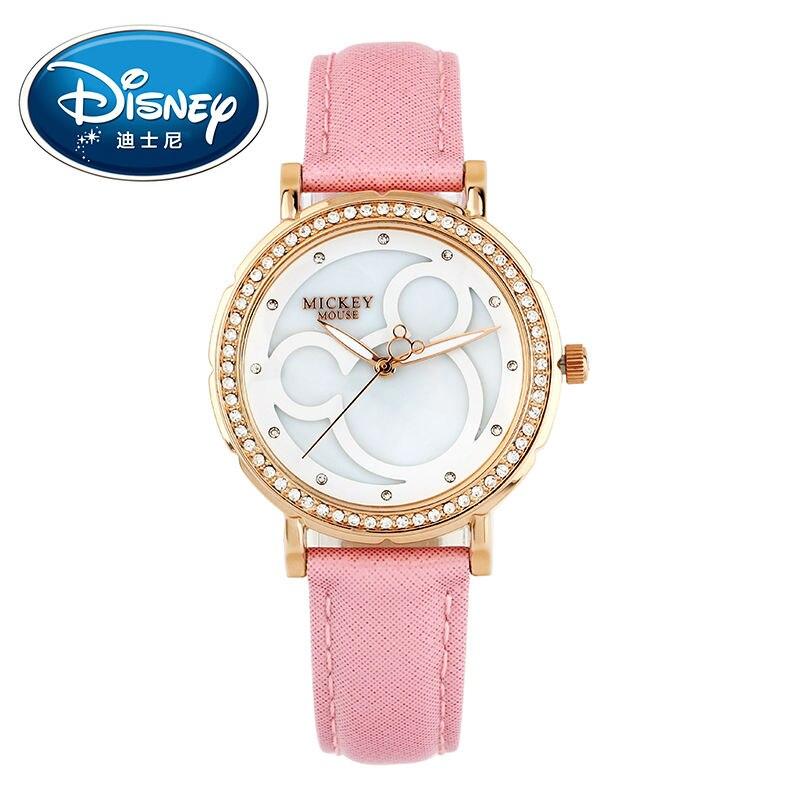 ФОТО 2017 Disney Kids Watch Children Watch Fashion Cute Wristwatches Girls Boys Mickey Mouse Gift Leather