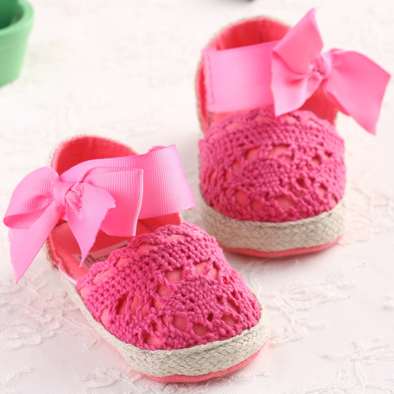 Baby First Walkers Baby Shoes Cute Knitting Non-slip Soft Bottom Toddler Shoes for Baby Girls