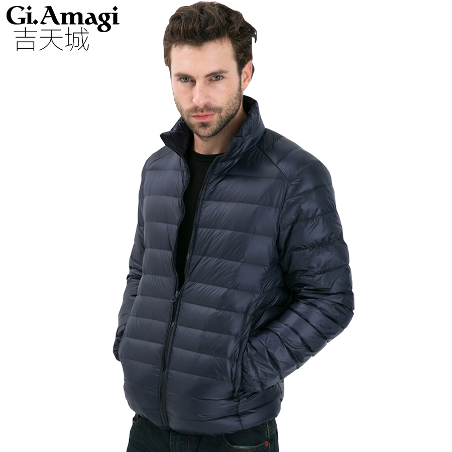 Winter Men's Duck Down Jacket Men, Ultra Light Thin Plus Size Winter Jackets For Men Fashion Autumn Man Outerwear Coat