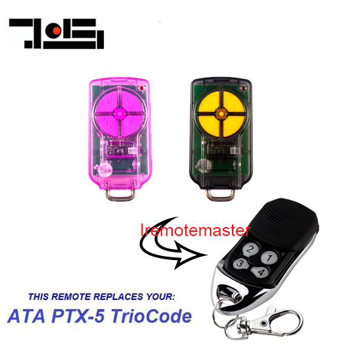 For ATA PTX-5V1 TrioCode compatible Remote Control PTX5 garage door opener ata ptx5 tricode replacement remote 1234button ptx 5 radio contol remote 433 92mhz 434 37mhz 433 37mhz