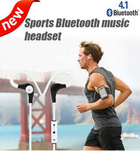 Sport Wireless Earphone Bluetooth 4.1 Headset Earpiece Sport Running Stereo with Microphone B1 sports In-Ear onear Earbuds(China)