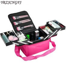 Women Make Up Organizer Large Capacity Multilayer Clapboard Beauty Cosmetic Case