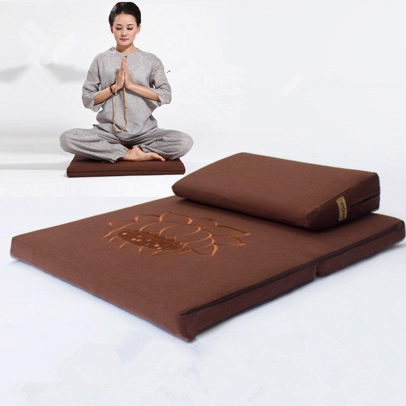 Deluxe Zafu & Zabuton 2 Pièce Set-Yoga/Méditation Coussins Carré 60/70/80 cm Japonais Zafu Coussin De Sol Lotus Méditation