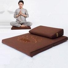 Deluxe Zafu & Zabuton 2 Piece Set - Yoga/Meditation Cushions Square 60/70/80cm Japanese Zafu Floor Cushion Lotus Meditation