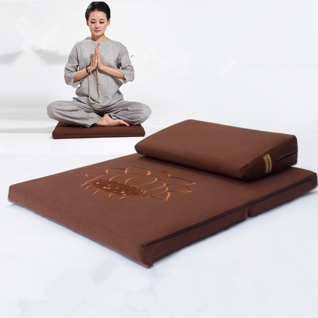 Deluxe zafu y zabuton 2 unidades de Yoga/meditación Cojines