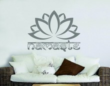 Namaste Lotus Religious Quotes Buddha Wall Sticker Home Living Room Decor Vinyl Bedroom Decal Yiga Studio NY-225