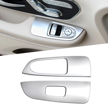 2PCS ABS Chrome Front Head Door Window Lifter Switch Trim For Mercedes Benz V-CLASS V250 V260 V220 W447 2014 2015 2016 2017 image