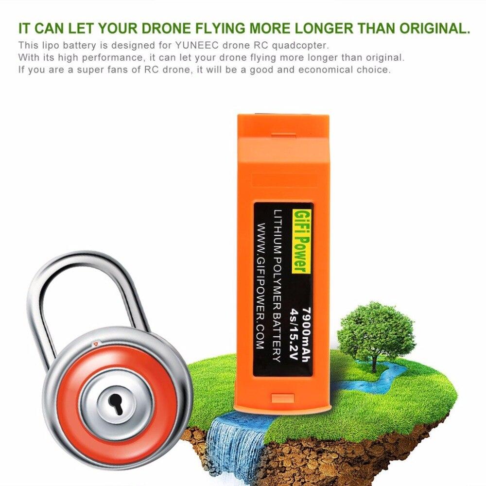 1 шт. высокое Ёмкость 15,2 В 7900 мАч 4S литий полимерный Замена резервного копирования Батарея для YUNEEC RC дроны Quadcopter