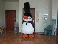 2017 Venta Caliente lindo sombrero negro pingüino Traje de La Mascota Personaje de Dibujos Animados Traje Traje Del Vestido de Partido