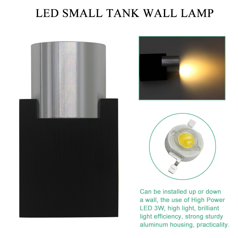 3W LED Wall Sconce AC85-265V Modern Aluminum Luminous Lighting Fixtures Frosted Lampshade Living Room Bedroom Decorative Lamp