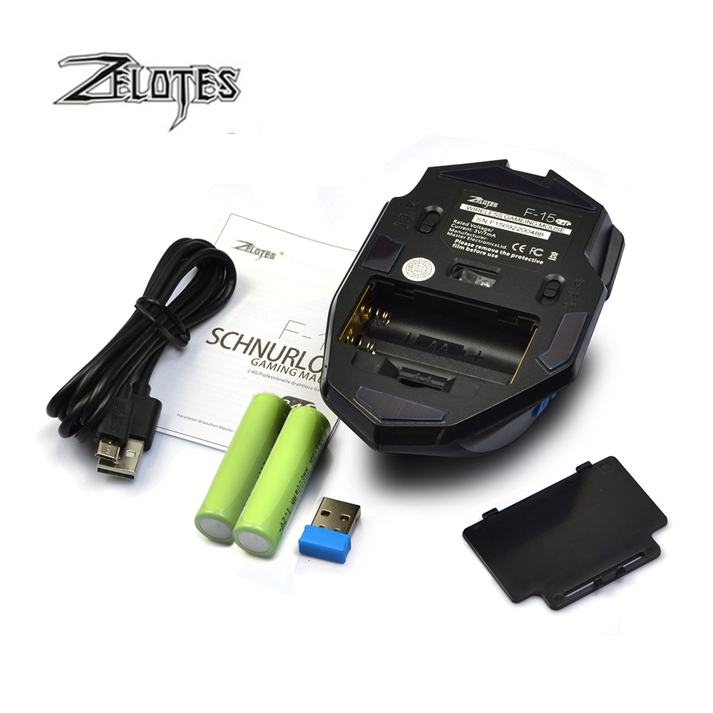 Image 5 - ZEALOT F 15 hot sale Original Dual mode Gaming Mouse 2500 DPI With Wireless Adjustable DPI-in Mice from Computer & Office