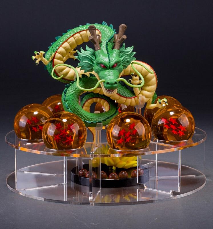 Dragon Ball Z Shenron PVC figuras dbz dragon ball z Modèle Jouet esferas del dragon + 7 pièces boules DE PVC + étagère Dragonball DIY53