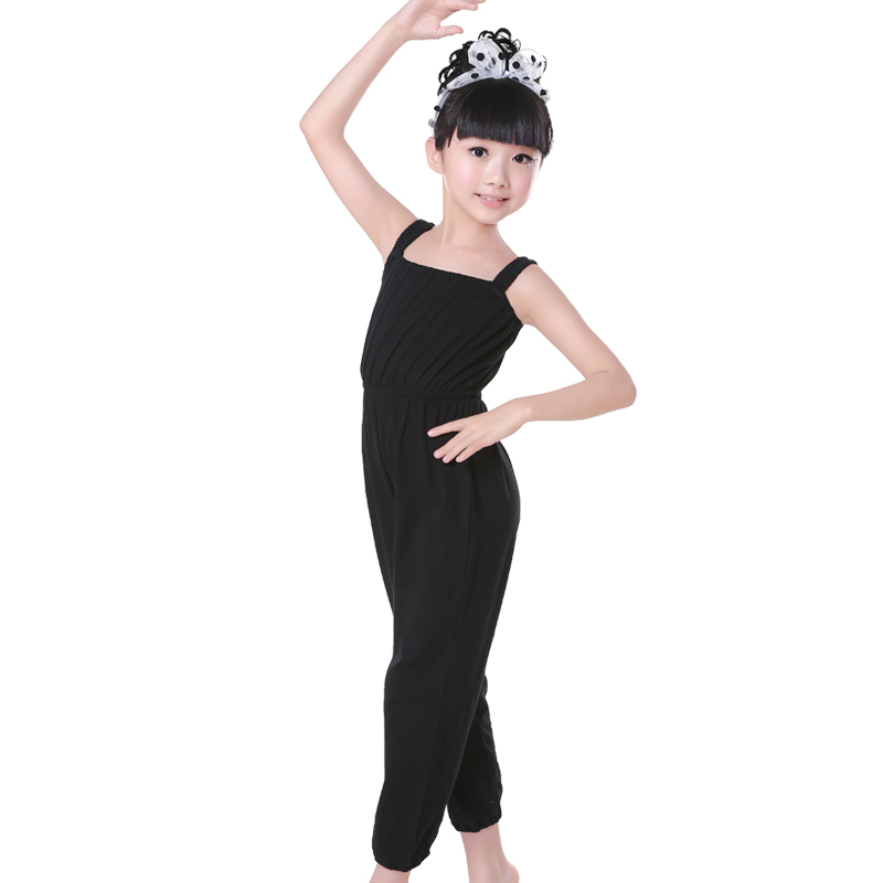 Kids Jumpsuit Overalls Running Pants Elastic Waist Playsuit Camisole Straps Sports Wear Fitness Clothing