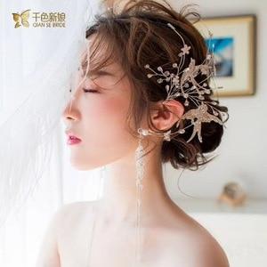Image 4 - クリスタル鳥耳かけデュアル使用側の装飾スーパー妖精パーティー髪の宝石女性のための