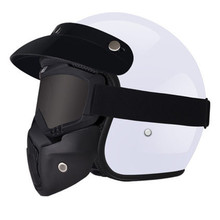 Hot sale Motorcycle Scooter Open Face Half Helmet with Visor UV  Retro Vintage Professional Moto for Woman M L XL
