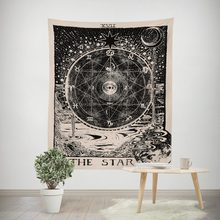 vintage european wall hangings witchcraft ouija tapestry sun moon star dorm room headboard arras carpet astrology blanket(China)