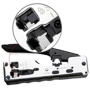 Image 3 - Combo ağ Rj45 aracı telekom sıkma Crimper Rj45 Cat7 Cat6A Cat6 Cat5 Rj11 Rj12 modüler fişler Metal klipleri pense aracı