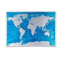2017 Kapalı Scratch Dünya Haritası Poster Mavi Okyanus Kişiselleştirilmiş Dünya Dünya haritası Duvar Sticker Gezgin Günlüğü Coğrafi Haritası dekor