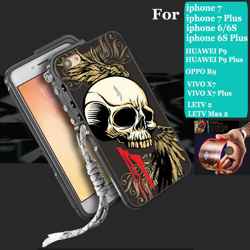 imágenes para Gatillo de Metal Marco de Parachoques para el iphone de Apple 6 6 s plus iphone 7 7 plus huawei p9 más R9 oppo VIVO X7 plus 2 LETV LETV max2