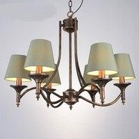 nostalgia bedroom living Multiple Chandelier vintage wrought iron chandelier lighting country retro room lamp restaurants