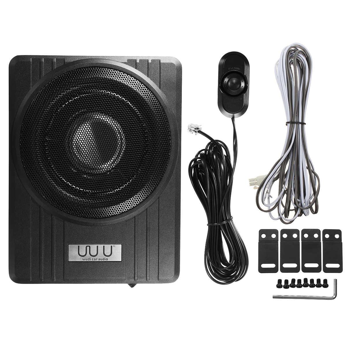 """10 """"600 W voiture Active Subwoofer haut-parleur amplificateur Audio véhicule Subwoofer basse amplificateur enceinte Auto son voiture Audio amplificateur"""