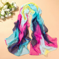 2015 new Female georgette long scarf multicolor thin chiffon scarves colorful beach towels free shipping 160*50cm