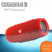 CrazyCube Charge 3 Fashion Designed Mini Portable Bluetooth IPX7 Waterproof Car Speaker With Power Bank Vs