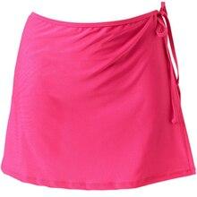 Модная Свободная Женская юбка, летнее праздничное пляжное платье саронг для плавания, однотонное короткое бикини, повседневный купальник