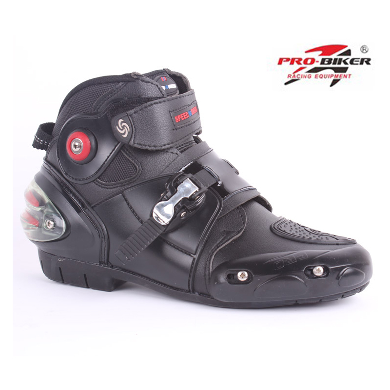 new Pro-biker A9003 automobile racing shoes off-road motorcycle boots Professional moto black botas Speed Sports Motocross