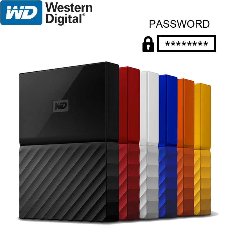 WD My Passport External Hard Drive Disk USB 3.0 1TB 2TB 1T 2T Portable Encryption HDD HD Storage Devices SATA 3 for Windows Mac-in External Hard Drives from Computer & Office    1