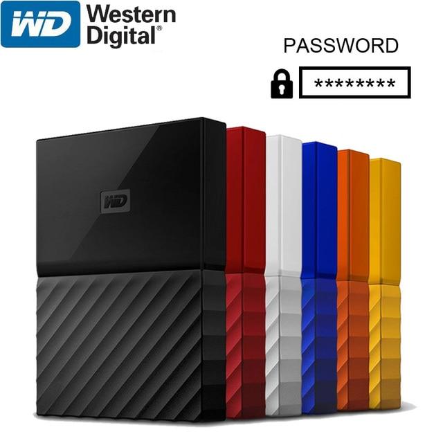 Wd meu passaporte 1tb 2tb disco rígido externo usb 3.0 criptografia portátil hdd hd disco rígido sata para notebook portátil windows mac