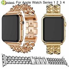 все цены на Watch band Stainless Steel link Bracelet For Apple Watch Band 42 38mm 40 44 mm Watchband for iwatch series 4/3/2/1 Accessories онлайн